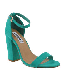 Madison Kiara Ankle Strap High Heel Green
