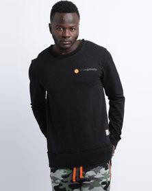 Magents Small Logo Badge Crew Neck Sweater Black