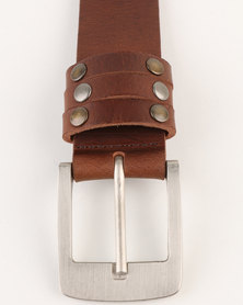Magents Mens Belt M11 Tan
