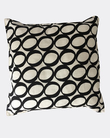 MARADADHI TEXTILES Lucky Bean Design Cushion Cover Black