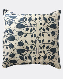 MARADADHI TEXTILES Protea Design Cushion Cover White