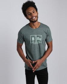 May Bru Built Rugged T-Shirt Bottle Green Melange