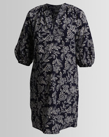 Me-A-Mama Burberry Dress Navy/Floral