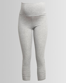 Me-A-Mama Ruched Legging Grey