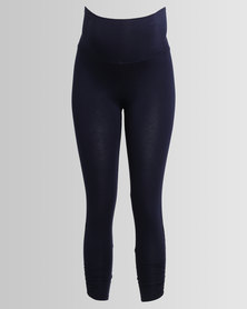 Me-A-Mama Ruched Leggings Navy
