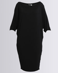 Michelle Ludek 3/4 Sleeve Jackie Dress Black