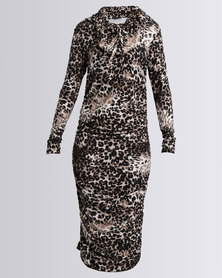 Michelle Ludek Blake Dress Animal Print