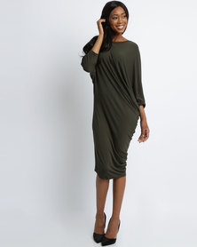 Michelle Ludek Stella Dress Khaki