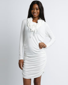 Michelle Ludek Blake Midi Dress Cream