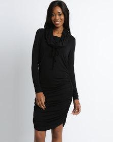 Michelle Ludek Blake Midi Dress Black