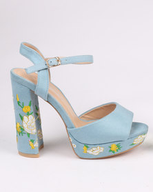 Miss Black Cling Platform Sandal Blue