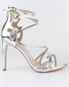 Miss Black River High Heel Sandals Silver