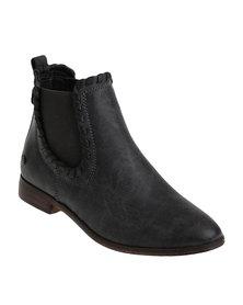 Miss Black Britt Chelsea Boots Grey