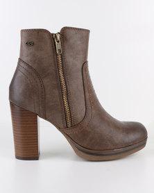 Miss Black Natz Platform Boot Brown