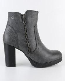 Miss Black Natz Platform Boot Grey