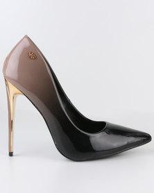 Miss Black Lake High Heel Court Shoes Black