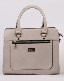 Miss Black Kate Structured Tote Bag Nude