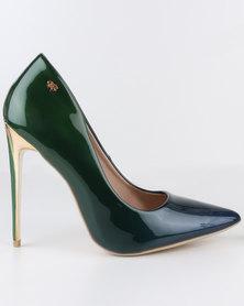 Miss Black Lake High Heel Court Shoes Green