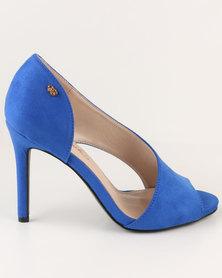 Miss Black Bulbul High Heels Blue