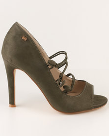 Miss Black Boo High Heels Olive