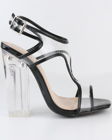 Miss Black Cacao High Heel T-Bar Sandals Black