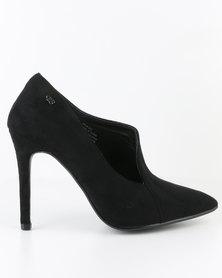 Miss Black Felix High Heel Court Shoe Black