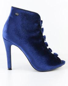 Miss Black Flic Peep Toe High Heels Cobalt