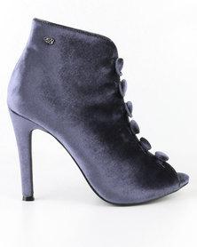 Miss Black Flic Peep Toe High Heels Grey