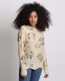 Miss Cassidy By Queenspark Desert Rose Knitwear Top Beige