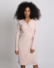 Miss Cassidy By Queenspark Plain Knit Dress Pink