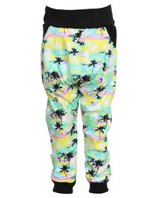 Miss Molly Tropical Drop Crotch Pants Multi