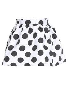 Miss Molly Nadine Skirt Black/White