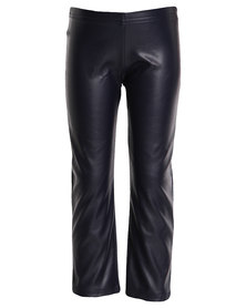 Miss Molly Sienna Leather Tights Navy