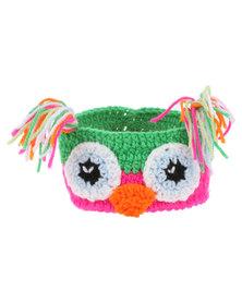 Monkeybum Crochet Headband Owl Multi