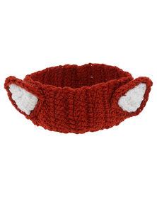 Monkeybum Crochet Fox Headband Orange