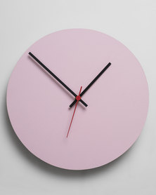 Native Decor Round Clock Pink