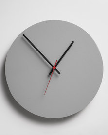 Native Decor Round Clock Grey