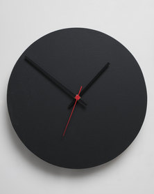 Native Decor Round Clock Black