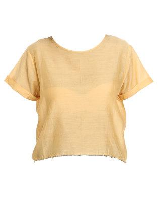Neuw Silk Touch Tee Yellow