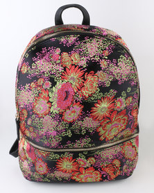 New Look Floral Jaquard Backpack Multi