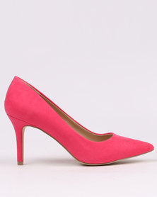 New Look Symbolic Pointed Mid Heels Pink