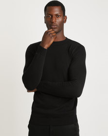 New Look Basic Cotton Crew Neck Jersey Black