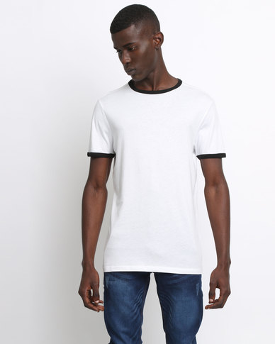 New Look Contrast Trim T-Shirt White