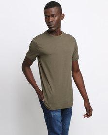 New Look Crew Neck T-Shirt Khaki