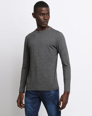 New Look Long Sleeve Crew Neck Top Grey