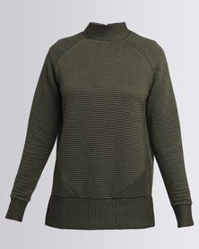 New Look Ribbed Turtle Neck Sweater Khaki