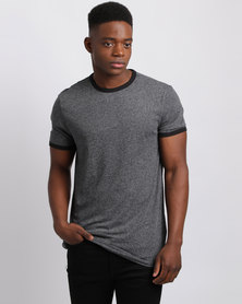 New Look Basic Grindle Ringer T-Shirt Grey