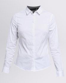 New Look Long Sleeve Shirt White