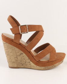 New Look Oysters 2 SDT Multi Strap Wedge Tan