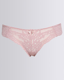 New Look Daisy Lace Thong Pink